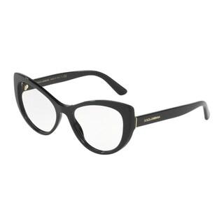 Dolce & Gabbana DG3285 Women's Black Frame Demo Lens Eyeglasses