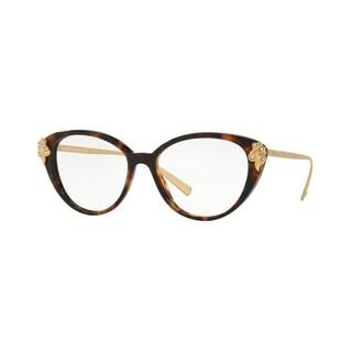 Versace VE3262B Women's Havana Frame Demo Lens Eyeglasses