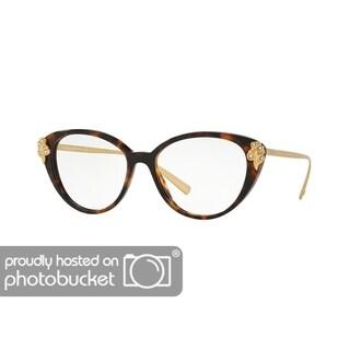 Versace VE3262BA Women's Havana Frame Demo Lens Eyeglasses