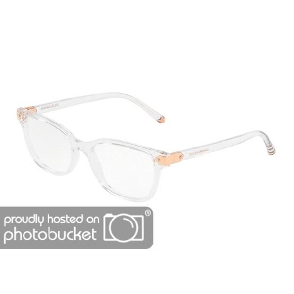 3cc8231a83af Shop Dolce & Gabbana DG5036 Women's Crystal Frame Demo Lens Eyeglasses -  Free Shipping Today - Overstock - 25463640