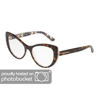 Dolce & Gabbana DG3285 Women's Havana On New Maiolica Frame Demo Lens Eyeglasses