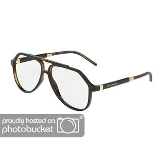 Dolce & Gabbana DG5038 Men's Havana Frame Demo Lens Eyeglasses