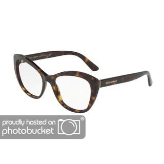 Dolce & Gabbana DG3284 Women's Havana Frame Demo Lens Eyeglasses