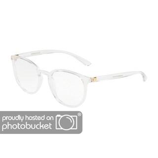Dolce & Gabbana DG5033 Women's Crystal Frame Demo Lens Eyeglasses