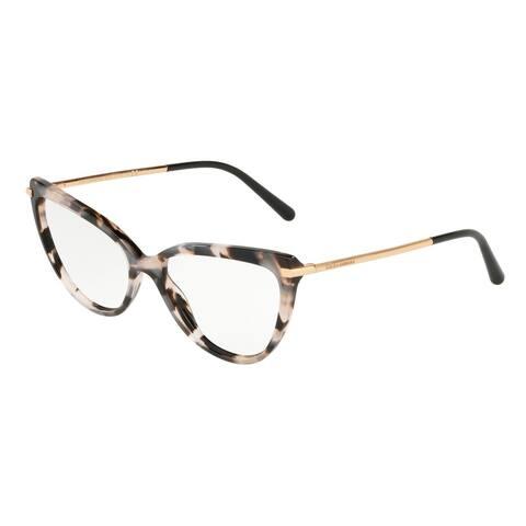 Dolce & Gabbana DG3295 Women's Pearl Grey Havana Frame Demo Lens Eyeglasses