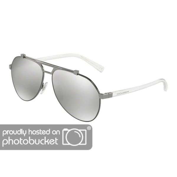 edf3414af3c8 Shop Dolce   Gabbana DG2189 Men s Matte Gunmetal Gunmtal Frame Light Grey  Mirror Silver Lens Sunglasses - Free Shipping Today - Overstock - 25463794