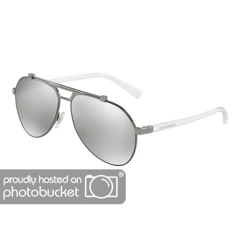 f8182bfb2a Dolce   Gabbana DG2189 Men s Matte Gunmetal Gunmtal Frame Light Grey Mirror  Silver Lens Sunglasses