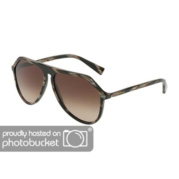 45da5cf70a Shop Dolce   Gabbana DG4341 Men s Brown Horn Frame Brown Gradient Lens  Sunglasses - Free Shipping Today - Overstock - 25463809