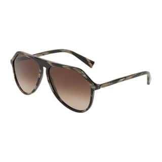 4361a2eb9569 Dolce & Gabbana DG4341 Men's Brown Horn Frame Brown Gradient Lens Sunglasses