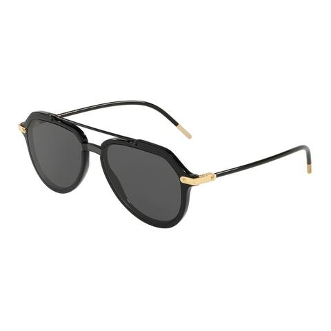 Dolce & Gabbana DG4330 Men's Black Frame Grey Lens Sunglasses