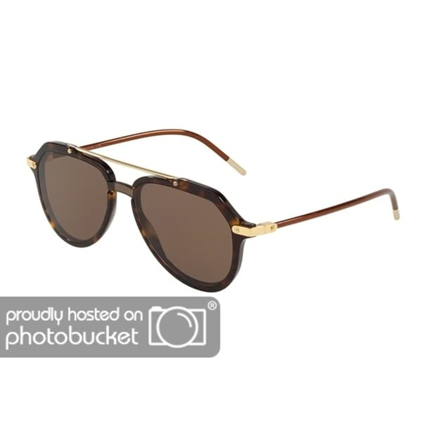 712c79677a Shop Dolce   Gabbana DG4330 Men s Havana Frame Brown Lens Sunglasses - Free  Shipping Today - Overstock - 25463822
