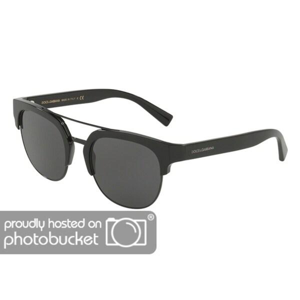b1ac78b4e488 Shop Dolce   Gabbana DG4317F Men s Black Frame Grey Lens Sunglasses - Free  Shipping Today - Overstock - 25463824