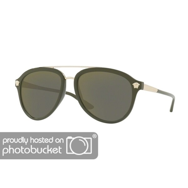 8d8619a8e2 Shop Versace VE4341 Mens Military Green Frame Dark Grey Mirror Gold Lens  Sunglasses - Free Shipping Today - Overstock - 25463826