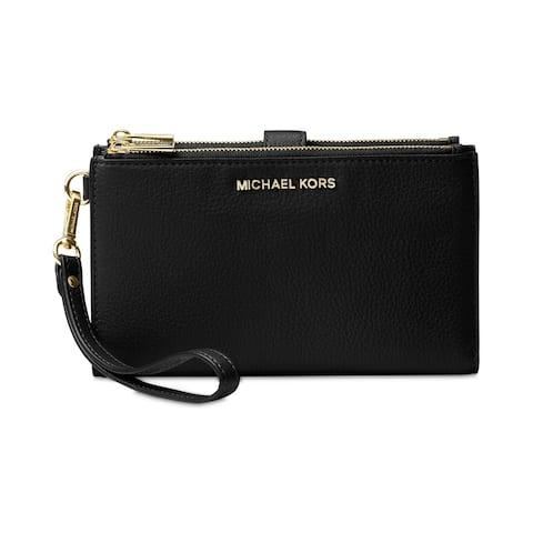 56f94836410c MICHAEL Michael Kors Adele Double Zip iPhone 7 Plus Wristlet Black