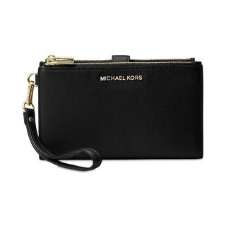 Link to MICHAEL Michael Kors  Adele Double Zip iPhone 7 Plus Wristlet Black Similar Items in Wallets