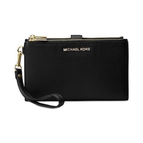 MICHAEL Michael Kors Adele Double Zip iPhone 7 Plus Wristlet Black
