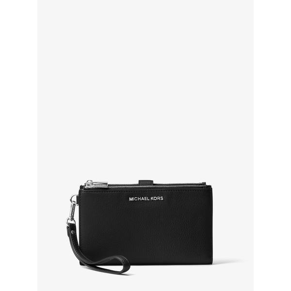c6134ffa3bce Shop MICHAEL Michael Kors Zip iPhone 7 Plus Wristlet Black/Silver ...