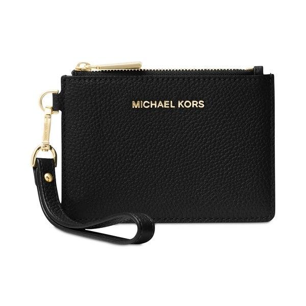 1e0ca772acf8 Shop MICHAEL Michael Kors Mercer Small Coin Purse Black - Free ...