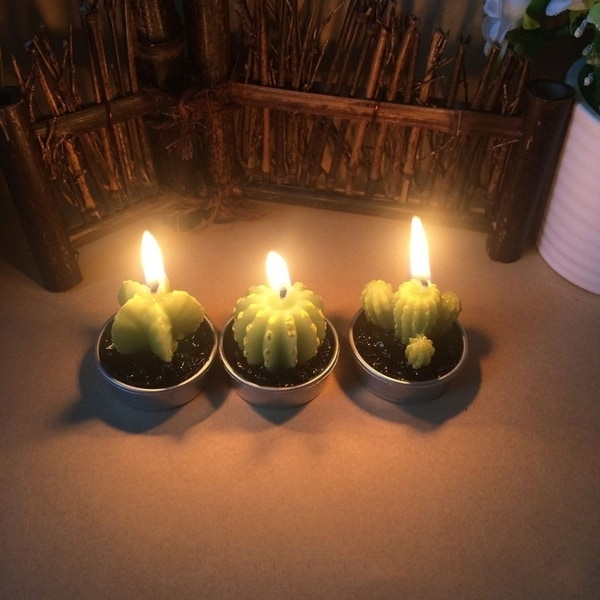 Simulation Plant Candle Table Tea Light Home Garden Decorative Candles