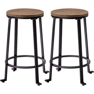 Harper & Bright Designs 24-inch Bar Stools Dining Room Chairs (Set of 2)