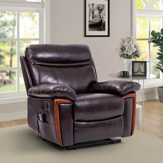 Carbon Loft Branagh Massage PU Leather Sofa Chair with Heat and Vibrating