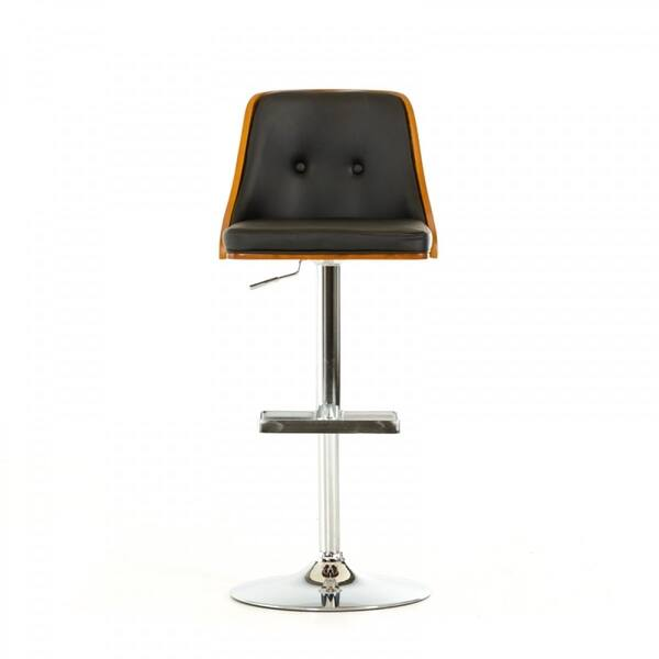 Super Shop Modrest Hank Modern Black Wood Bar Stool Free Gmtry Best Dining Table And Chair Ideas Images Gmtryco