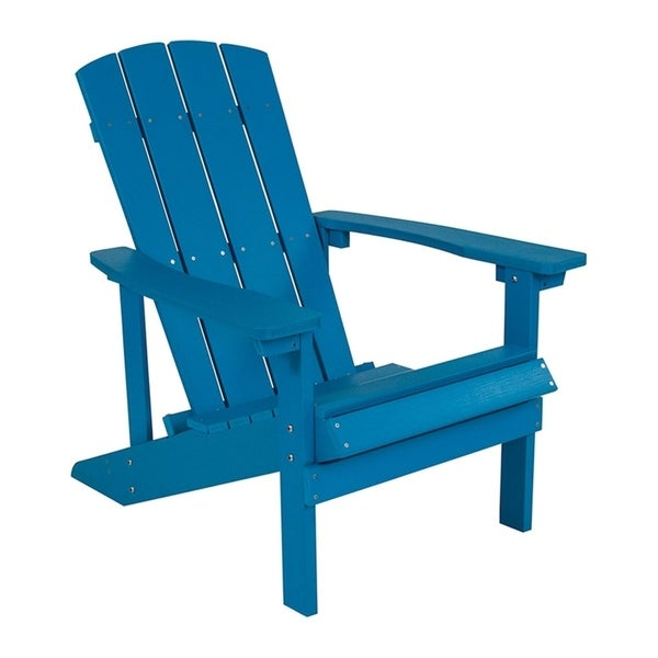 shop offex cottage style all weather adirondack patio chair in blue rh overstock com  cottage style outdoor wicker furniture
