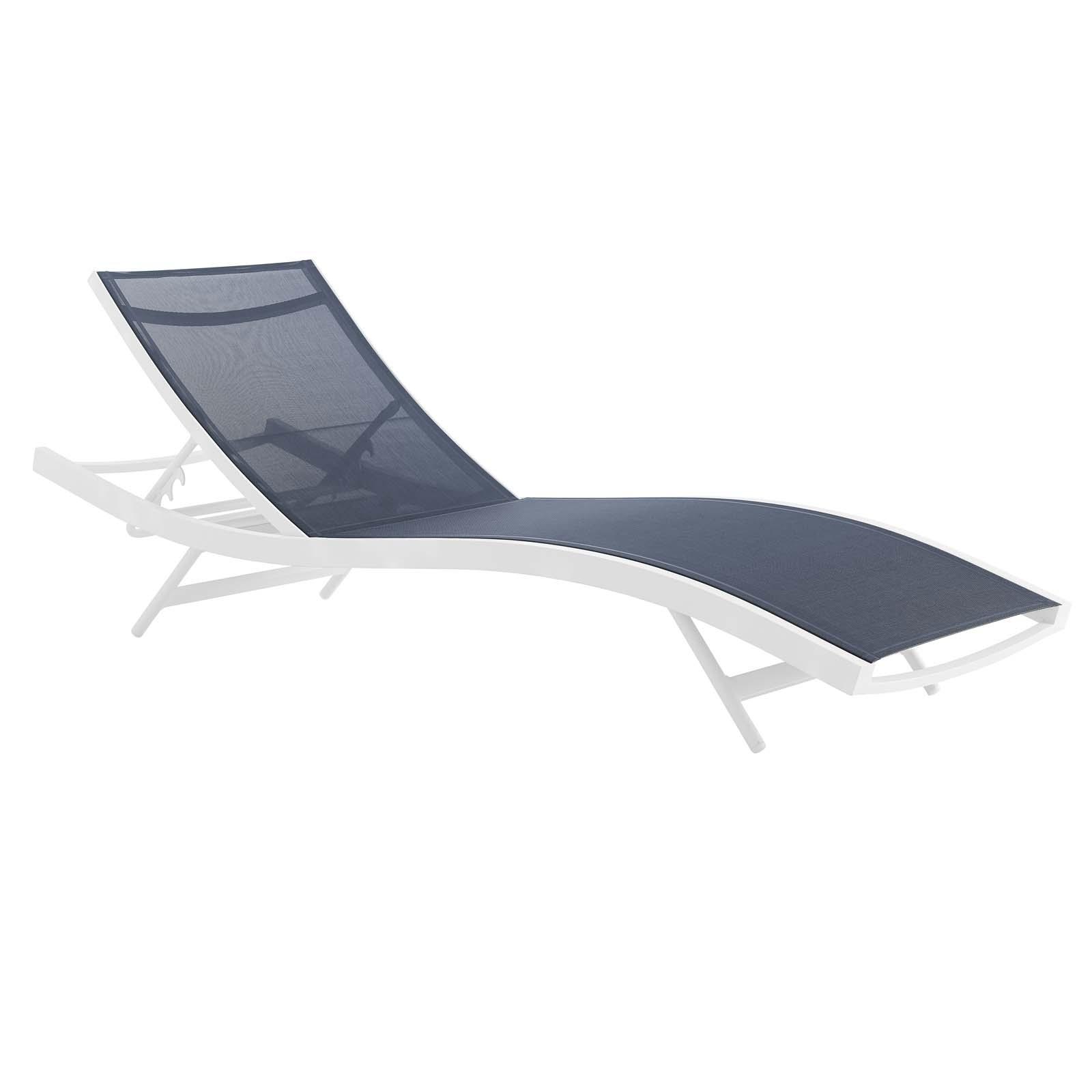 Brilliant Glimpse Outdoor Patio Mesh Chaise Lounge Chair Machost Co Dining Chair Design Ideas Machostcouk