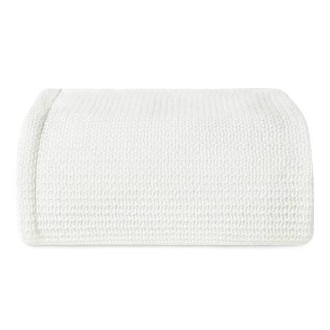 Ellen DeGeneres Textured Chevron White Blanket