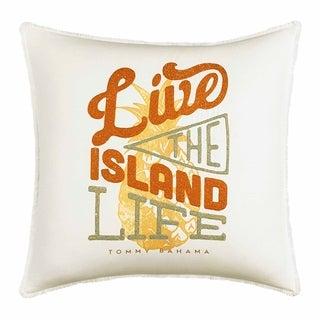 Tommy Bahama Sunrise Stripe Live The Island Life Throw Pillow
