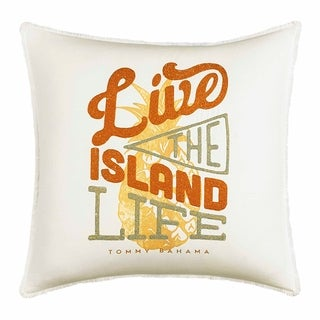 Tommy Bahama Sunrise Stripe Live The Island Life Throw Pillow
