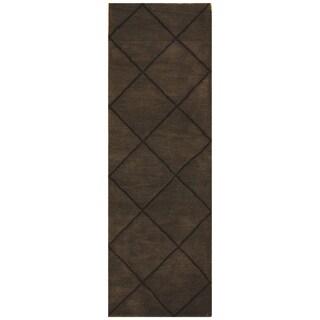 Handmade Tibetan Wool Rug (India) - 2'6 x 7'9