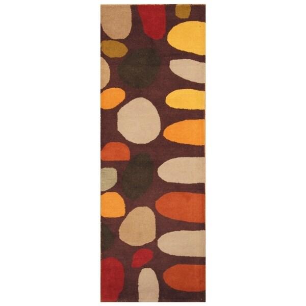 Handmade Tibetan Wool Rug (India) - 2'8 x 7'8