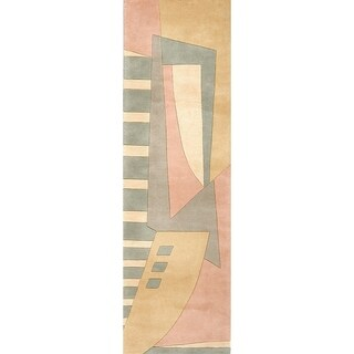 """Momeni New Wave Hand Tufted Wool Pastel Runner - 2'6"""" x 12'"""
