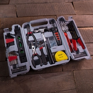 Essential DIY Tool Kit Set for Home Improvement - Includes Hammer, Wrench Set, Screwdriver Set, Pliers
