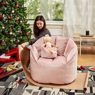 Big Joe Kid's Doll and Me Bean Bag Chair, Holland Velvet