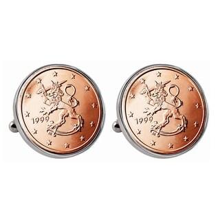 Finland 2 Euro Coin Cufflinks
