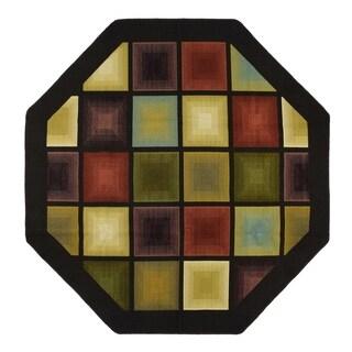Optic Squares 78 in. Rug Runner - N/A
