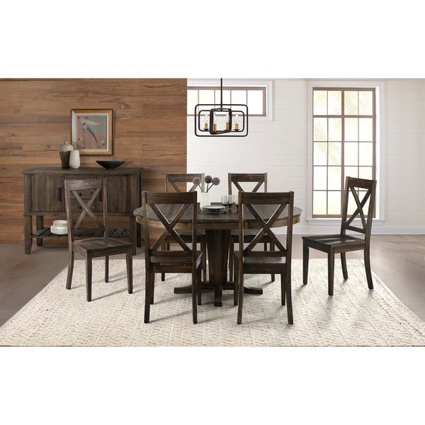 Simply Solid Clark Solid Wood 7 Piece Dining Collection On Sale Overstock 25481130