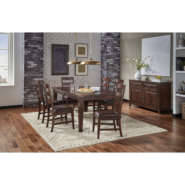 Shop Simply Solid Gunnison Solid Wood 7-piece Dining