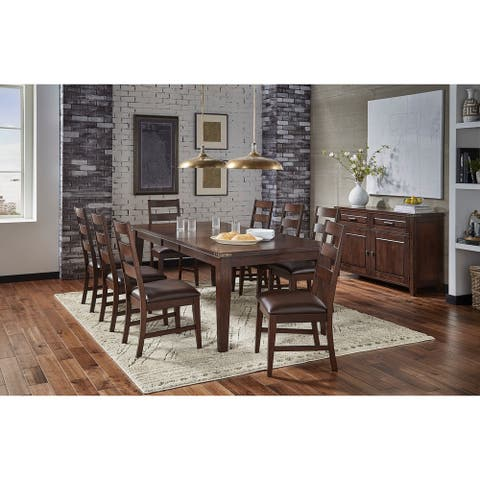 Simply Solid Gunnison Solid Wood 10-piece Dining collection
