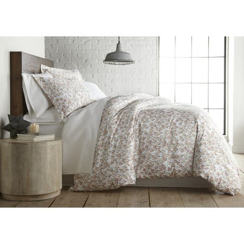 Forevermore Luxury Cotton Reversible Duvet Cover and Sham Set