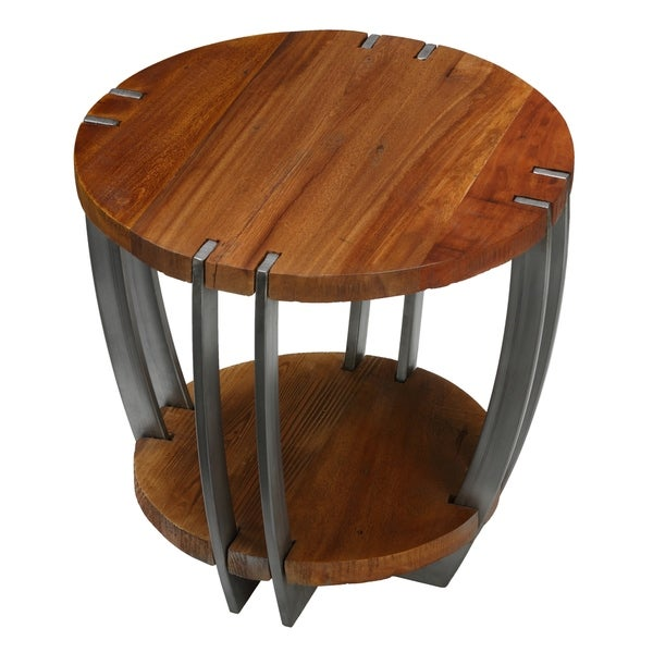 Bare Decor Ferry Metal and Wood End Table