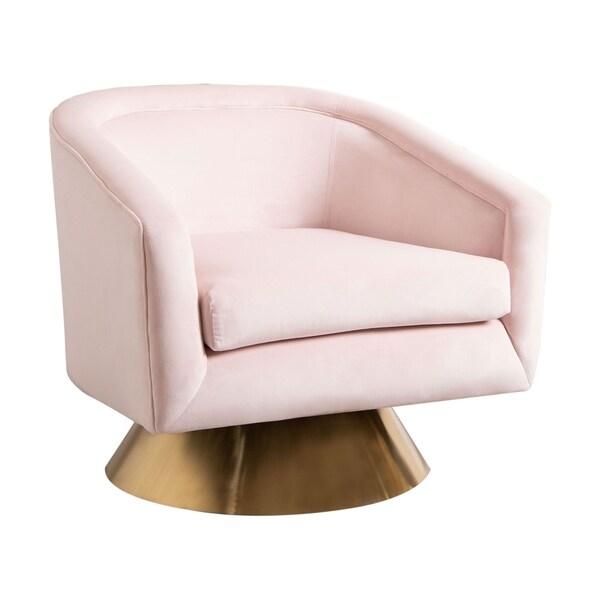 Abbyson Jaxon Velvet Swivel Chair by Abbyson