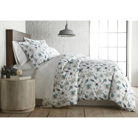 Watercolor Symphony Luxury Cotton Duvet Cover and Sham Set