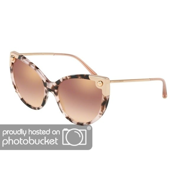 a71de360f104 Shop Dolce   Gabbana Cat Eye DG4337 Women s Pink Havana Frame Gradient Pink  Mirror Pink Lens Sunglasses - Free Shipping Today - Overstock - 25481238