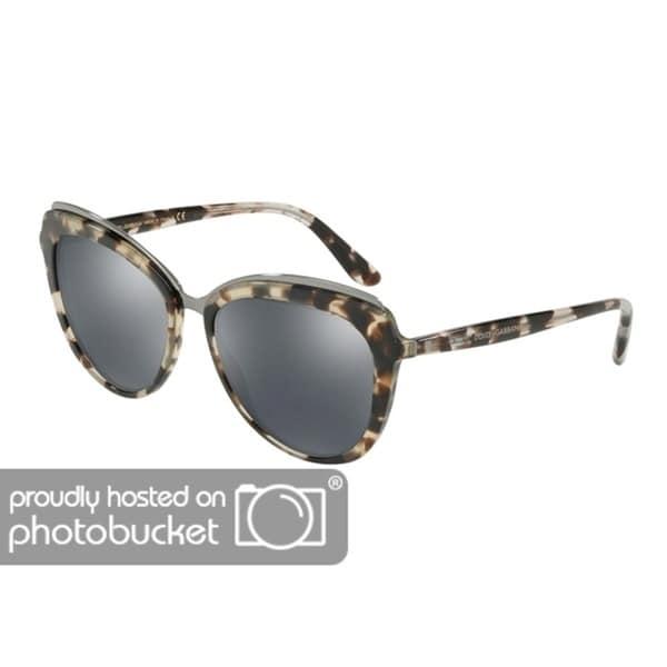 75b985416a2 Shop Dolce   Gabbana Cat Eye DG4304F Women s Cube Fog Frame Grey Mirror  Black Lens Sunglasses - Free Shipping Today - Overstock - 25481243