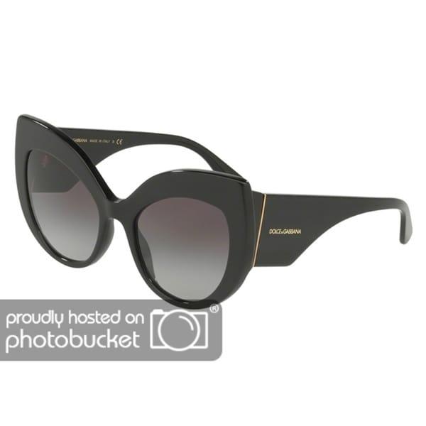 09cc469988e9 Shop Dolce   Gabbana Cat Eye DG4321 Women s Black Frame Grey Gradient Lens  Sunglasses - Free Shipping Today - Overstock - 25481245