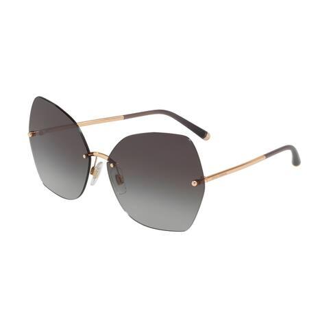 80a1fab4fa Dolce   Gabbana Irregular DG2204 Women s Pink Gold Frame Light Grey  Gradient Black Lens Sunglasses