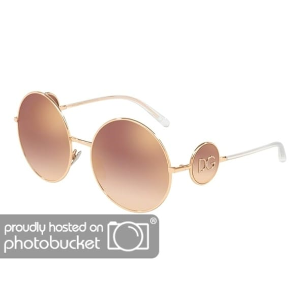 b2eeba445ac7 Shop Dolce   Gabbana Round DG2205 Women s Pink Gold Frame Gradient Pink  Mirror Pink Lens Sunglasses - Free Shipping Today - Overstock - 25481266
